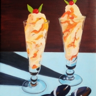 """Apricot Ice Cream,"" oil on canvas, 2014"