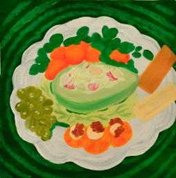 """Avocado,"" oil on paper, 2013"