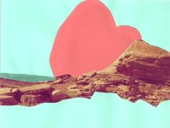 """Beach,"" collage, 2012"