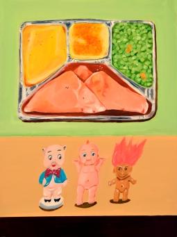 """Dinner Party I,"" oil on panel, 2011"