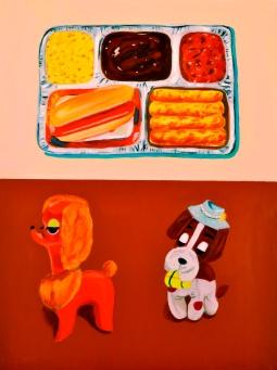 """Dinner Party II,"" oil on panel, 2011"