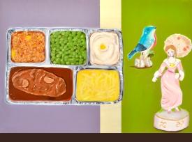 """""""Dinner Party V,"""" oil on panel, 2011"""