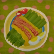 """Asparagus,"" oil on paper, 2013"
