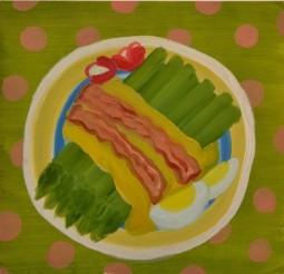 """Asparagus,"" oil on paper, 2013"