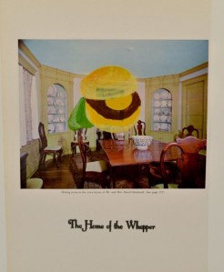 """""""The Home of the Whopper,"""" mixed media, 2013"""