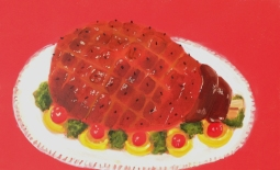 """Glazed Ham,"" oil on paper, 2012"