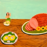 """Hula Ham,"" oil on panel, 2011"