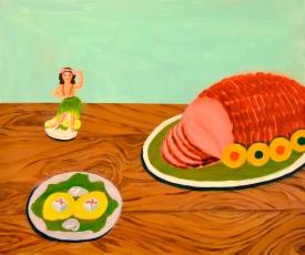 """""""Hula Ham,"""" oil on panel, 2011"""