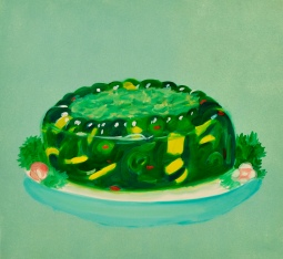 """Jello Salad,"" oil on paper,"