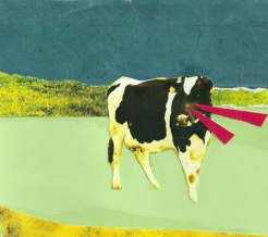 """""""Mad Cow,"""" collage, 2012"""
