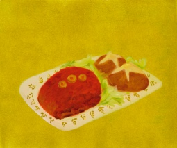 """Meatloaf,"" oil on paper, 2012"
