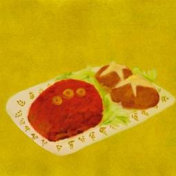 """""""Meatloaf,"""" oil on paper, 2012"""