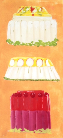 """Monumental Jello,"" oil on paper, 2012"