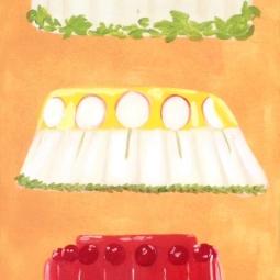 """Monumental Jello,"" oil on paper, 2012"