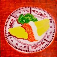 """""""Omelet,"""" oil on paper,"""