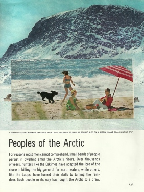 """""""Peoples of the Arctic,"""" collage, 2015"""