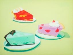 """Pies,"" oil on panel, 2012"