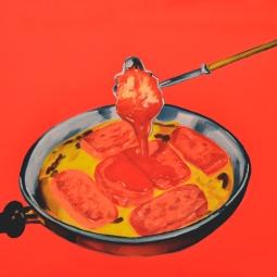 """""""Pour,"""" oil on canvas, 2013"""