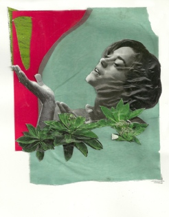"""Ah Ha,"" collage, 2012"