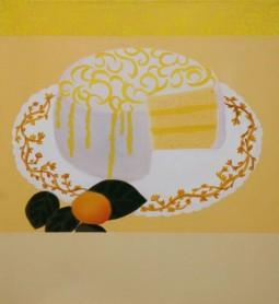 """""""Lemon Cake,"""" oil on linen, 2013"""