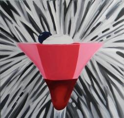 """Cherry Bomb,"" oil on canvas, 2014"
