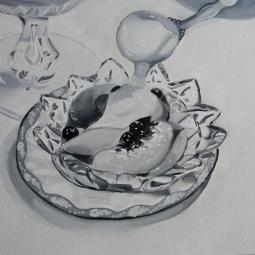 """""""Peaches n' Cream,"""" oil on canvas, 2014"""