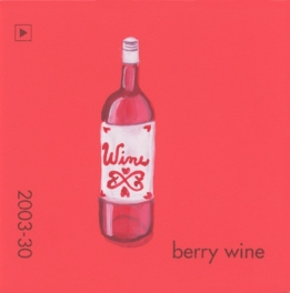 """""""Berry Wine,"""" acrylic on commercial paint chip, 2 x 2in, 2017"""